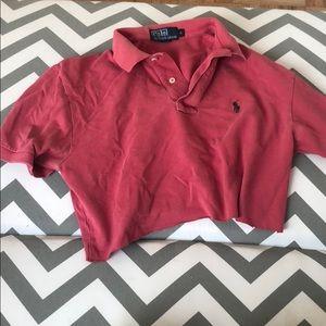Tops - Vintage polo crop shirt